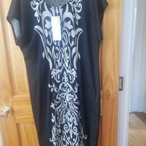 Cocomo Black Moonstruck Knit Dress Size 2x